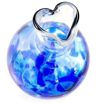 Amazon Heart Bud Vase Hand Blown Glass 5 Cobalt Blue Color