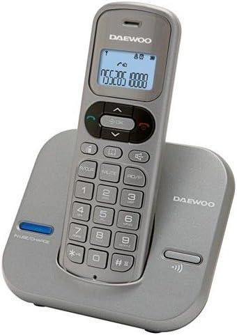 Daewoo DTD 1600 - Teléfono Fijo inalámbrico, Color Gris: Amazon.es: Electrónica