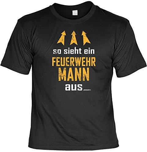 T-Shirt - So sieht ein Feuerwehrmann aus - lustiges Sprüche Shirt als Geschenk für Feuerwehr Männer mit Humor