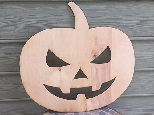 [Infinity Mischievous Face Halloween Deco Small 5mm Thick Plywood Unfinished (10