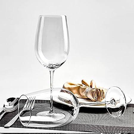 YUDIZWS Gafas Grandes de Vino de Cristal - Gafas de Vino talladas Rojas o Blancas - sin Plomo - Mejor para Pinot Noir - Borgoña - Burdeos