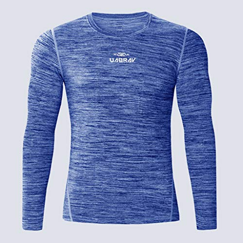 Bleu Marque Tee Shirt Winjin Longues Pull Homme Grande Manches À Sport Debardeur Blouse Maillot Musculation M Compression 5xl Vetement Haut Top Taille nx7q1Fx