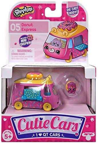 SHOPKINS CUTIE CARS #5 DONUT EXPRESS WITH MINI SHOPKIN EXCLUSIVE