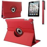 RUBAN 360 Degree Rotating Automatic Wake/Sleep Stand Case with Screen Protector for Apple iPad 2/iPad 3/iPad 4 from RUBAN