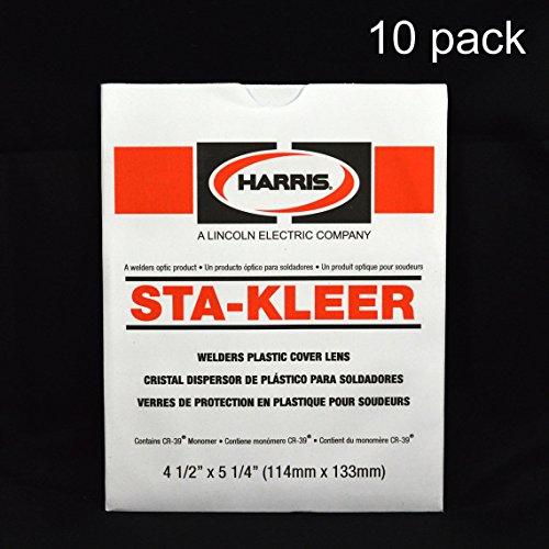 Harris Welding Hood/Helmet Large Clear Lens Cover 4.5'' x 5.25'', 10 pack, 1010140 by Harris