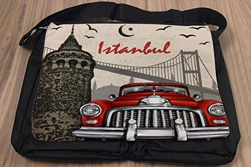 Borsa Tracolla Città Istanbul Stampato