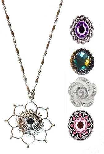- Hidden Hollow Beads Snap Interchangeable Jewelry Necklace, Women's Fashion Snap Jewelry, 18