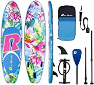 Runwave Inflatable Stand Up Paddle Board 10.6'×34''×6''(6''Thick) Non-Slip Wide St