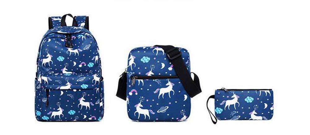 Joyloading Preppy Students Schoolbag Cartoon Printed Alpaca Shoulders Backpack