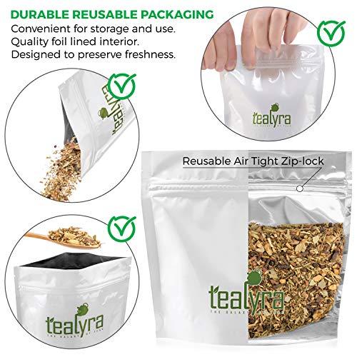 Tealyra - Deep Breath - Eucalyptus - Ginger - Tulsi - Fennel - Wellness Herbal Loose Leaf Tea - Calming and Relaxing - Caffeine Free - 112g (4-ounce)