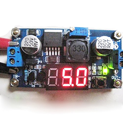 scgtpapadc Buck Step-Down LM2596 Power Converter Module DC 2.5-40V to 1.25-37V Voltmeter