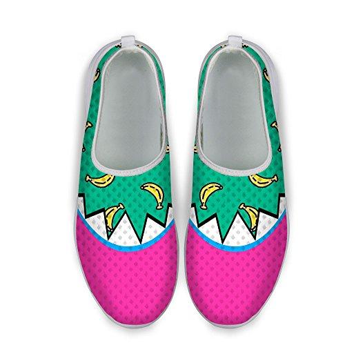 For U Design Stilige Kvinners Uformelle Mesh Gang Joggesko Rosa 1