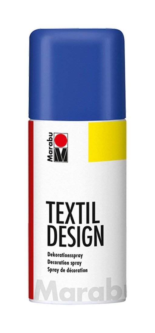 Gentian Blue Marabu Textile Spray Paint Textil Fabric Spray Paint 150ml (1 Spray Can) WDMARABU_142_GENTIAN_1