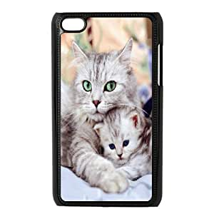 High Quality Phone Back Case Pattern Design 5Grumpy Cat,Because Cats- FOR IPod Touch 4th
