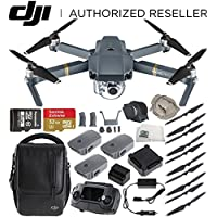 DJI Mavic Pro Quadcopter Drone Fly More Combo + Manufacturer Accessories + Sandisk 32GB microSDHC Memory Card + Microfiber Cleaning Cloth