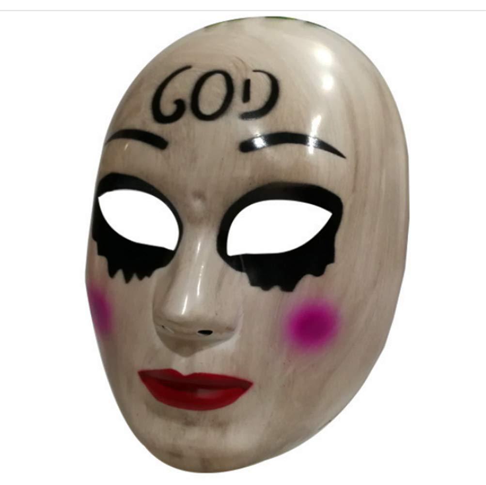 Gmasking 2018 The Horror Killer Women God Mask Halloween Party Costume Props by Gmasking