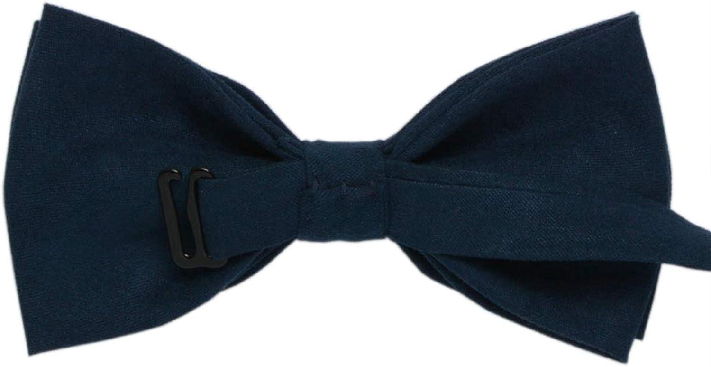YaGe Mens Suede Pre-tied Bow Tie Adjustable Bowties A612