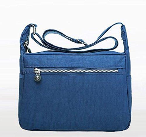 résistant à l'eau Crinkle Poids léger en nylon Bleu marine en bandoulière Sac à bandoulière 8204