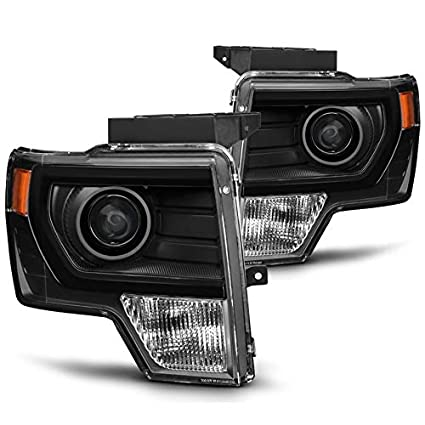 2014 F150 Headlights >> Xtune 2009 2014 F150 Upgrade Style Black Projector Headlights Halogen Models Pair L R 2010 2011 2012 2013