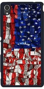 Funda para Sony Xperia M4 Aqua / Aqua DUAL - Bloques De La Bandera Americana by Blooming Vine Design