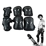 Carejoy 6pcs/set Sports Protective Gear, Adjustable Kids Skating Roller Blading Cycling Climbing Safety Pad Guard Gear for Elbow Knee Wrist
