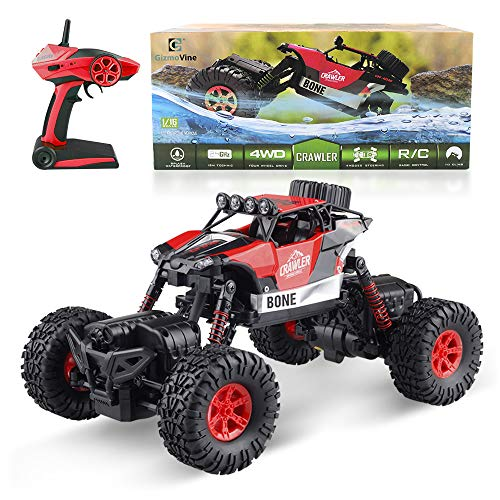 Off Road Radio Control - RC Remote Car, Waterproof RC Car 4WD 1/16 Radio Controlled Cars Off Road Vehicle 2.4Ghz Toy Monster Car RC Racing Toy Electronic Climbing car, RC Remote Control Car Jumping Car Electric RC Stunt Car