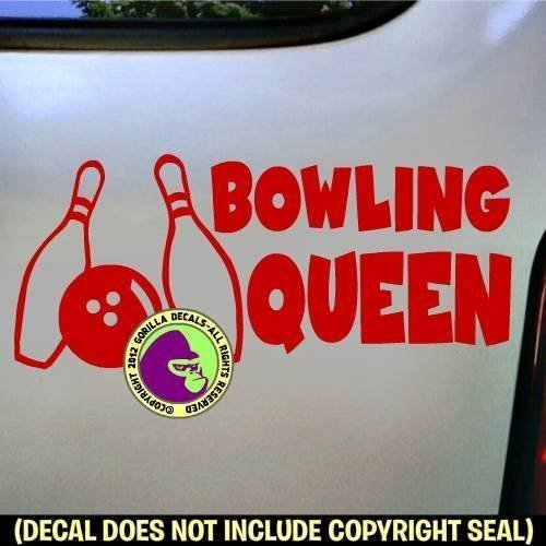 BOWLING QUEEN Vinyl Decal Sticker B