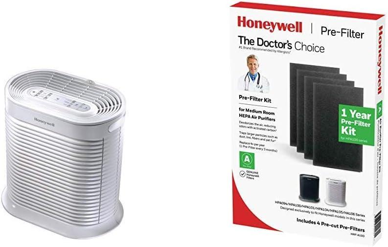 HONEYWELL HPA104 True HEPA Allergen Remover HRF-A100 Pre Kit air Purifier Filter, Black