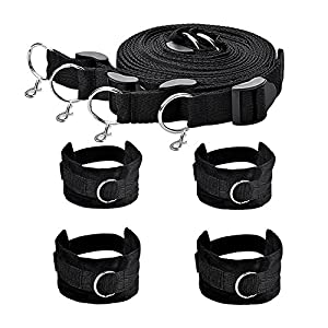 cuffpuff Arm and leg restraint strap on - velcro adjustable system - under the bed fit any size mattress
