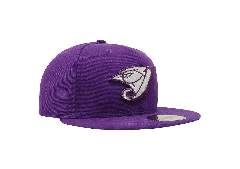 New Era 59Fifty Hat Toronto Blue Jays MLB Basic Major League Purple Fitted Cap