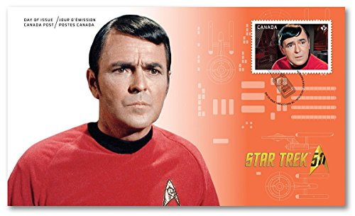 Star Trek 50th Anniversary (Scotty) Official First Day Cover Collectible Postage Stamps Canada