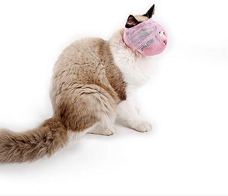 Rosa Baoblaze Bozal de Gato Conveniente para Mascota Respire Accesorios de Animales Doemsticos Resistente