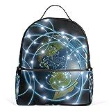 FBTRUST Network pattern Casual Backpack School Bag Hiking Travel Daypack 13Inch laptop bag for Boys Teen Girls