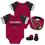 Outerstuff NFL NFL Arizona Cardinals Newborn & Infant 50 Yard Dash Bodysuit, Bib & Bootie Set Cardinal, 24 Months