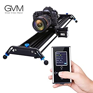 Motorized Camera Slider Dolly Track GVM 31.8 inch Automatic Cycle Time Lapse Tracking 120 Degree wide-angle Shooting of the Most Smooth Video Slider Track (Aluminum Alloy)