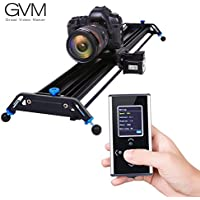 Motorized Camera Slider Dolly Track GVM 48 inch Automatic Cycle Time Lapse Tracking 120 Degree wide-angle Shooting of the Most Smooth Video Slider Track (Aluminum Alloy)