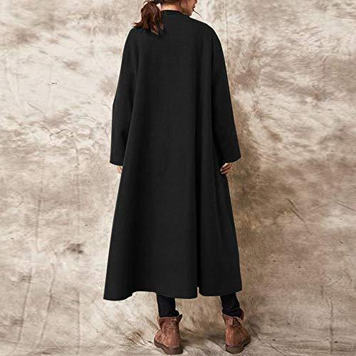 Open Inverno Allentato Giacche Soprabito Caldo Xxl Outwear Long Ladies Donna Fxchen Casual Coat Buttons Autunno Femme Stich PXBYnw7