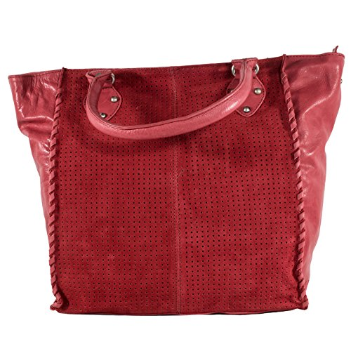 Lei È Cozy The Perfect Cut - Leather Tote Bag Cognac Red Woman
