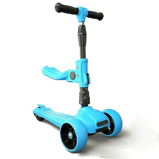 AIOJY Altura Ajustable y manijas Scooter for niños de 3 Ruedas con ...