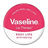 Vaseline Lip Therapy Lip Balm Tin, Rosy Lips, 0.6 oz