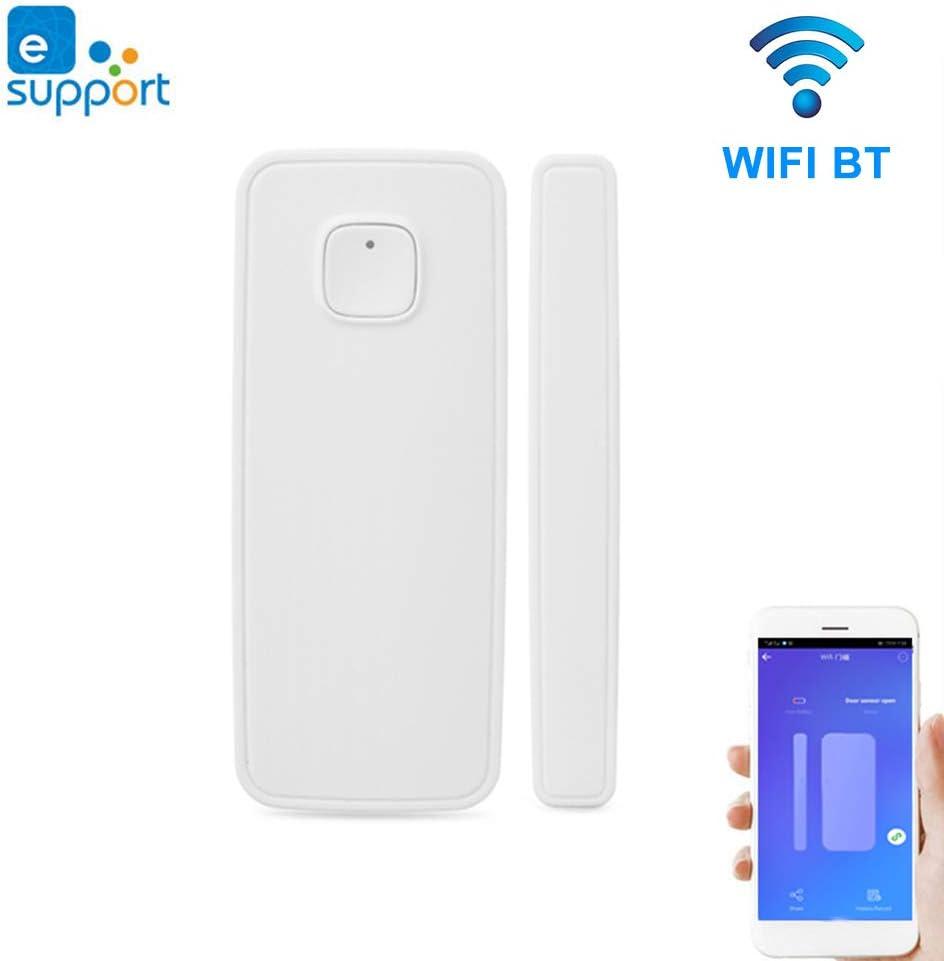 Lepeuxi eWelink BT WiFi Sensor de Puerta Control de App Puerta Ventana Apertura de Seguridad Sensor de Alarma Interruptor magn/ético Detector inal/ámbrico Vinculaci/ón Interruptor WiFi