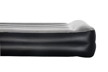 AmazonBasics - Cama hinchable con almohada, con bomba de aire incluida, individual, color gris: Amazon.es: Deportes y aire libre