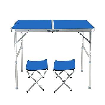 A-Fort Table Juego de Mesa Plegable y 2 sillas MultiWare, para Uso ...