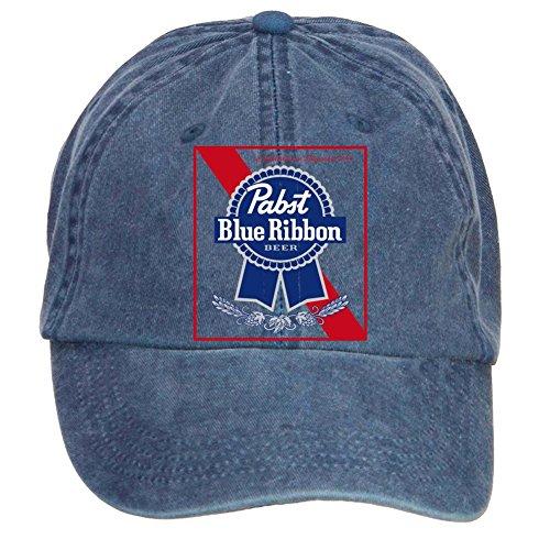 Dotion Unisex Pabst Blue Ribbon Design Baseball Caps
