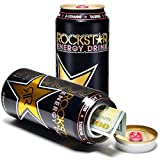 Rockstar Energy Drink Cola Diversion Safe Can Stash Cash Money Jewellery Keys Secret Compartment Pop Can, Includes an Exclusive WeNeedBongs(TM) Scoop Card