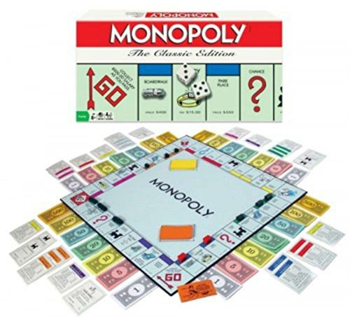 Monopoly, The Classic Edition, Traditional Family Fun Board Game, New