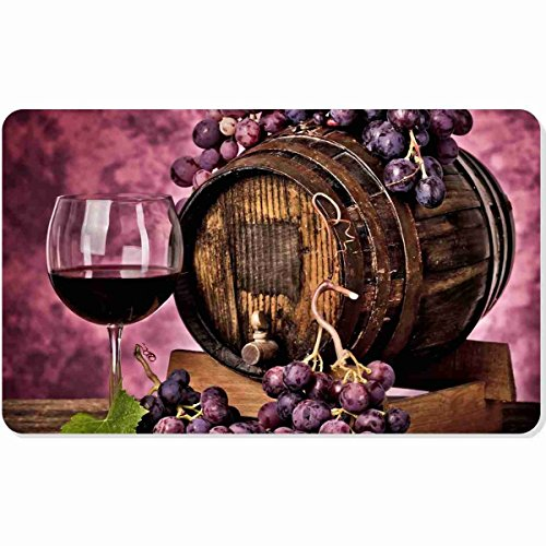 Ashasds Cushion Oak Purple Grape A Good Wine Leisure Life Home Decorations Rug Rectangle Size 23.6x15.7,Multi-Function Indoor Outdoor Beautiful Doormat ()