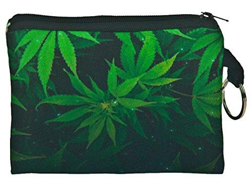Marijuana Print Design Square portefeuilles Kukubird dqSPUd