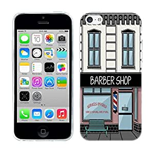 Head Case Designs Barbershop Buildings Soft Gel Back Case Cover for Apple iPhone 5c by ruishername
