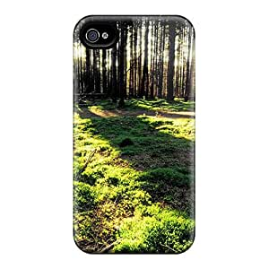 Cute High Quality Iphone 4/4s Trees Forest Sunlight Case